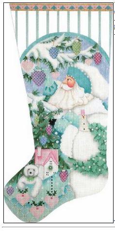 Winter White Santa Sock - click here for more details