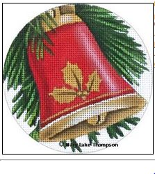 click here to view larger image of Bell Ornament (hand painted canvases)