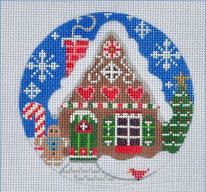 Gingerbread House Ornament hand painted canvases