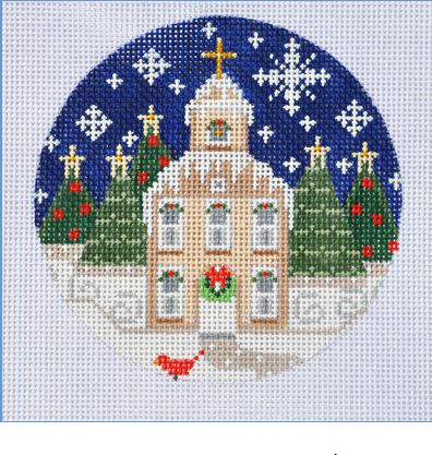click here to view larger image of Church Ornament (hand painted canvases)