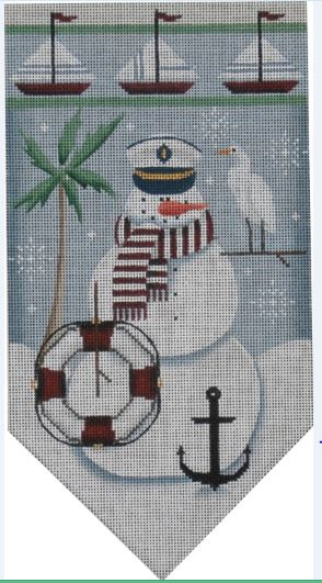 click here to view larger image of August Snowman Banner (hand painted canvases)