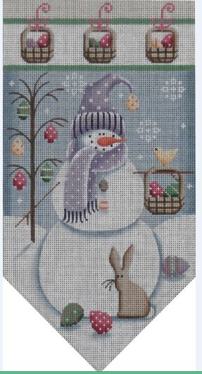click here to view larger image of April Snowman Banner (hand painted canvases)