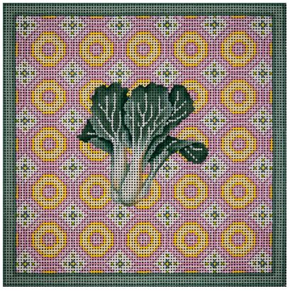 click here to view larger image of Bok Choy Pastel Square (hand painted canvases)