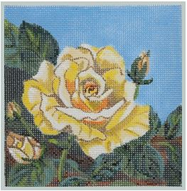 click here to view larger image of Yellow Rose of Texas 9x9 (hand painted canvases)