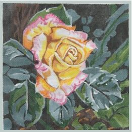 click here to view larger image of Peace Rose 5x5 (hand painted canvases)