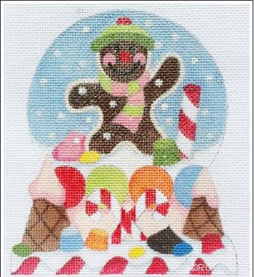 click here to view larger image of Candyland Snow Globe (hand painted canvases)