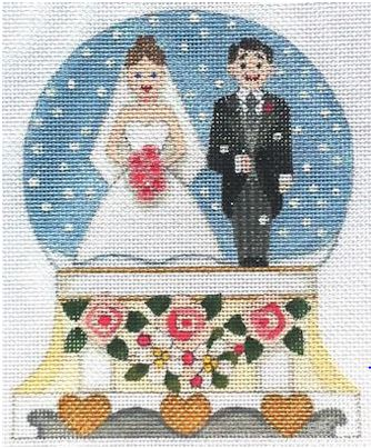 click here to view larger image of Wedding Snow Globe (hand painted canvases)