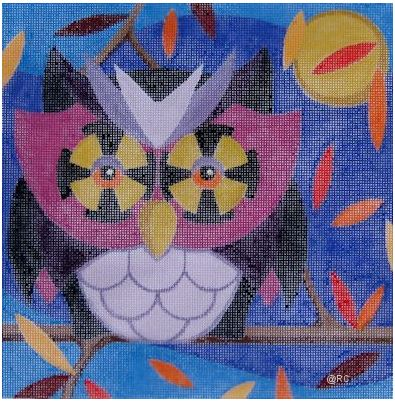 click here to view larger image of Autumn Owl (hand painted canvases)