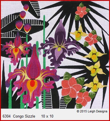 click here to view larger image of Congo Sizzle (hand painted canvases)
