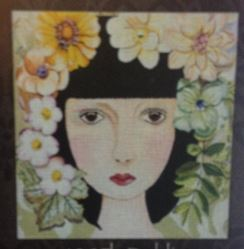 click here to view larger image of Dahlia (hand painted canvases)