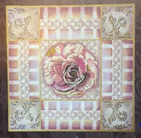 click here to view larger image of Mauve and Pink Rose Collage (hand painted canvases)