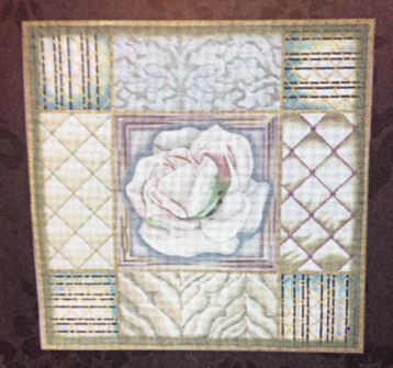 click here to view larger image of White and Green Rose Collage (hand painted canvases)