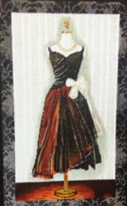 click here to view larger image of Evening Dress (hand painted canvases)