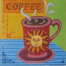 click here to view larger image of Coffee (hand painted canvases)