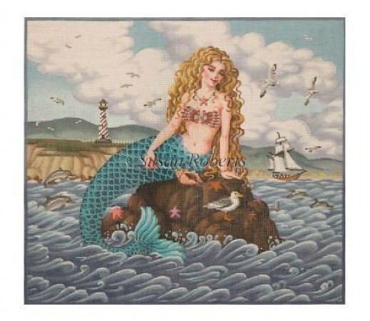 Mermaid in the Sun hand painted canvases