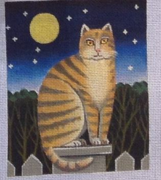 click here to view larger image of Night Cat (hand painted canvases)