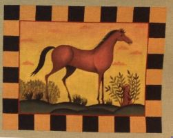 click here to view larger image of Farm Horse (hand painted canvases)