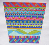 click here to view larger image of Pagoda Bag (Front and Back) (hand painted canvases)