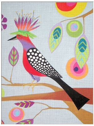 click here to view larger image of Birds of Paradise III (hand painted canvases)