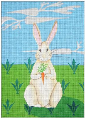 click here to view larger image of Bunny in a Field (Bunny Dreams) (hand painted canvases)