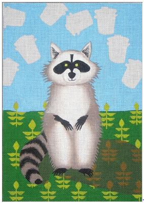 click here to view larger image of Raccoon Dreams - 18ct (hand painted canvases)