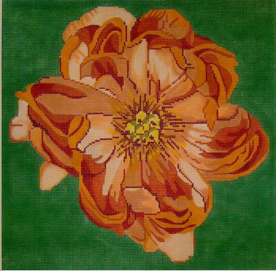 click here to view larger image of Peach Floral (hand painted canvases)