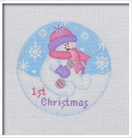 click here to view larger image of Baby Snowgirl (hand painted canvases)