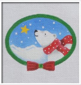 click here to view larger image of Polar Bear with Scarf (hand painted canvases)