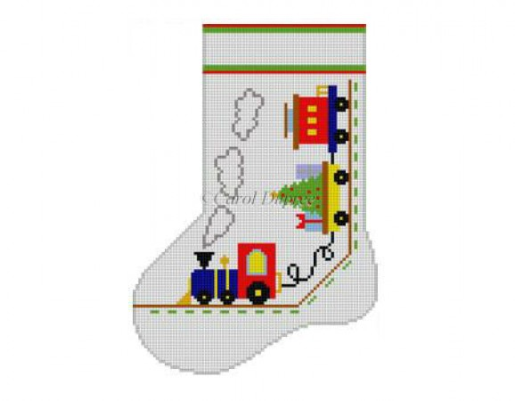 click here to view larger image of Train Mini Boot (hand painted canvases)