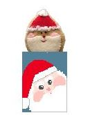 click here to view larger image of Santa Treat Bag w/Santa (hand painted canvases)