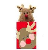 click here to view larger image of ReindeerTreat Bag w/Reindeer (hand painted canvases)