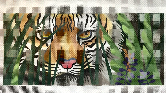 click here to view larger image of Tiger Awaits, A (hand painted canvases)