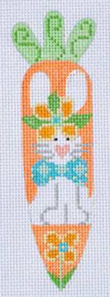 click here to view larger image of Bunny w/Bowtie Carrot (hand painted canvases)