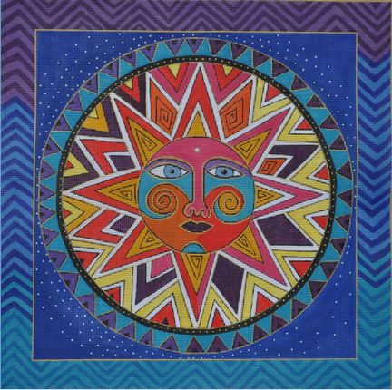 click here to view larger image of Celestial Sun (hand painted canvases)