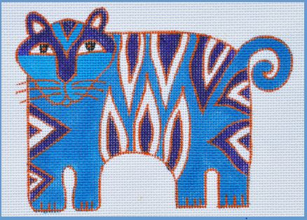 click here to view larger image of Blue Tiger (hand painted canvases)