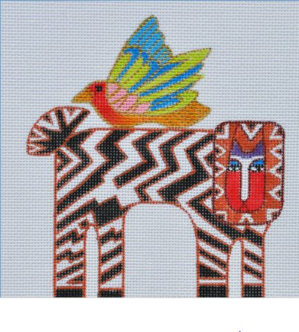 click here to view larger image of Cat Zebra (hand painted canvases)
