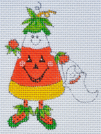 click here to view larger image of Corny Costume Candy Corn (hand painted canvases)