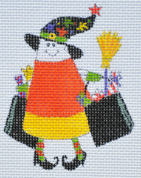 click here to view larger image of Bag of Treats Candy Corn (hand painted canvases)