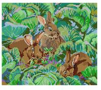 click here to view larger image of Bunnies (hand painted canvases)
