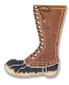 click here to view larger image of Hunting Boot (hand painted canvases)