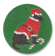 click here to view larger image of Black Lab Santa (hand painted canvases)