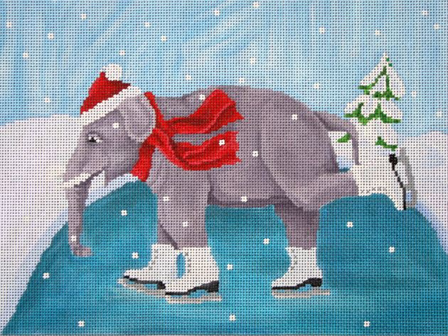 click here to view larger image of Skating Elephant (hand painted canvases)