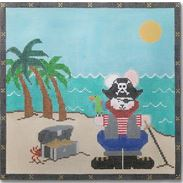 click here to view larger image of Pirate Bunny (hand painted canvases)