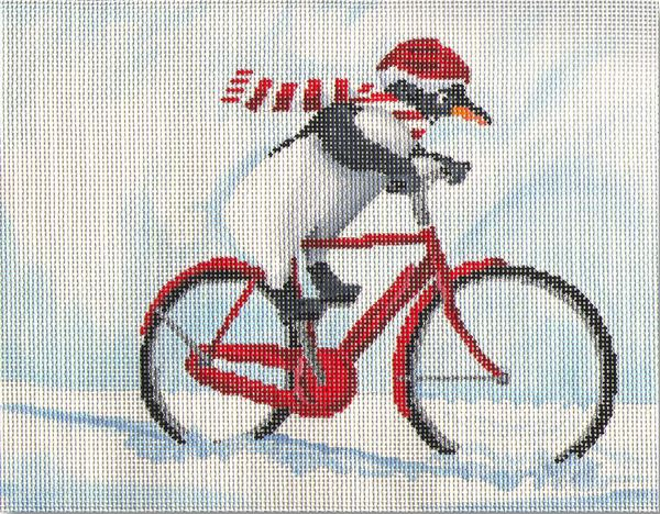 click here to view larger image of Penguin Out For a Ride (hand painted canvases)