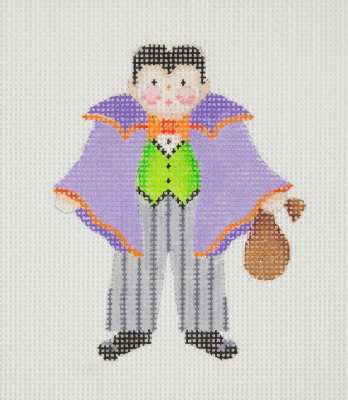 click here to view larger image of Halloween / Mini-Trick or Treat Kid / Dracula (hand painted canvases)