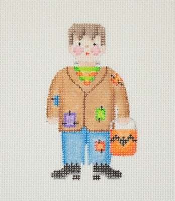 click here to view larger image of Halloween / Mini-Trick or Treat Kid / Frankenstein  (hand painted canvases)