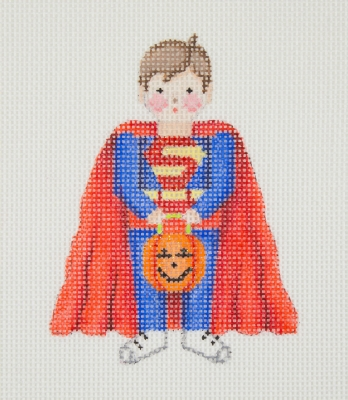 click here to view larger image of Halloween / Mini-Trick or Treat Kid / Super Kid (hand painted canvases)