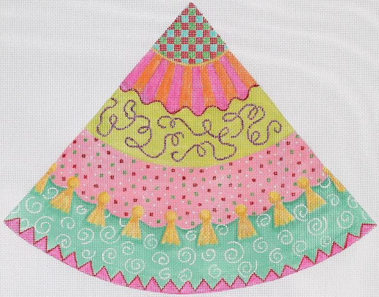 click here to view larger image of Funky Fiesta Cone Tree Topper (hand painted canvases)