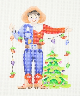 click here to view larger image of Christmas Ornament / Big Tex (hand painted canvases)