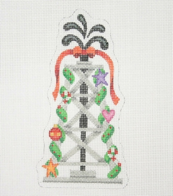 click here to view larger image of Christmas Ornament / Oil Well Decorated for Christmas  (hand painted canvases)